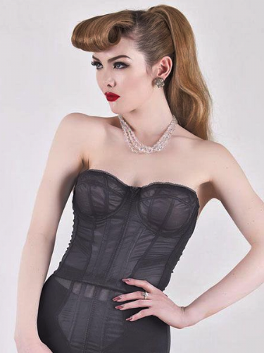 Cabaret Bustier in black